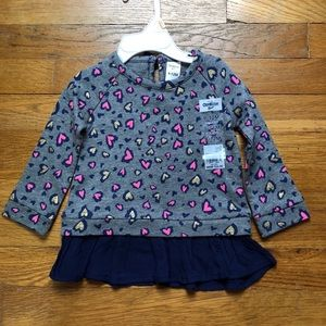 Heat print toddler shirt with tile accent